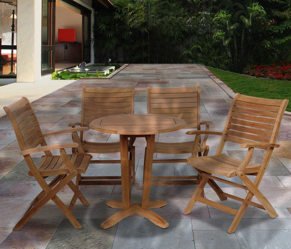 Amazonia Teak Aruba 5 Pc Dining Set Outdoor