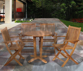 Amazonia Teak Kansas 5 Pc Dining Set Outdoor