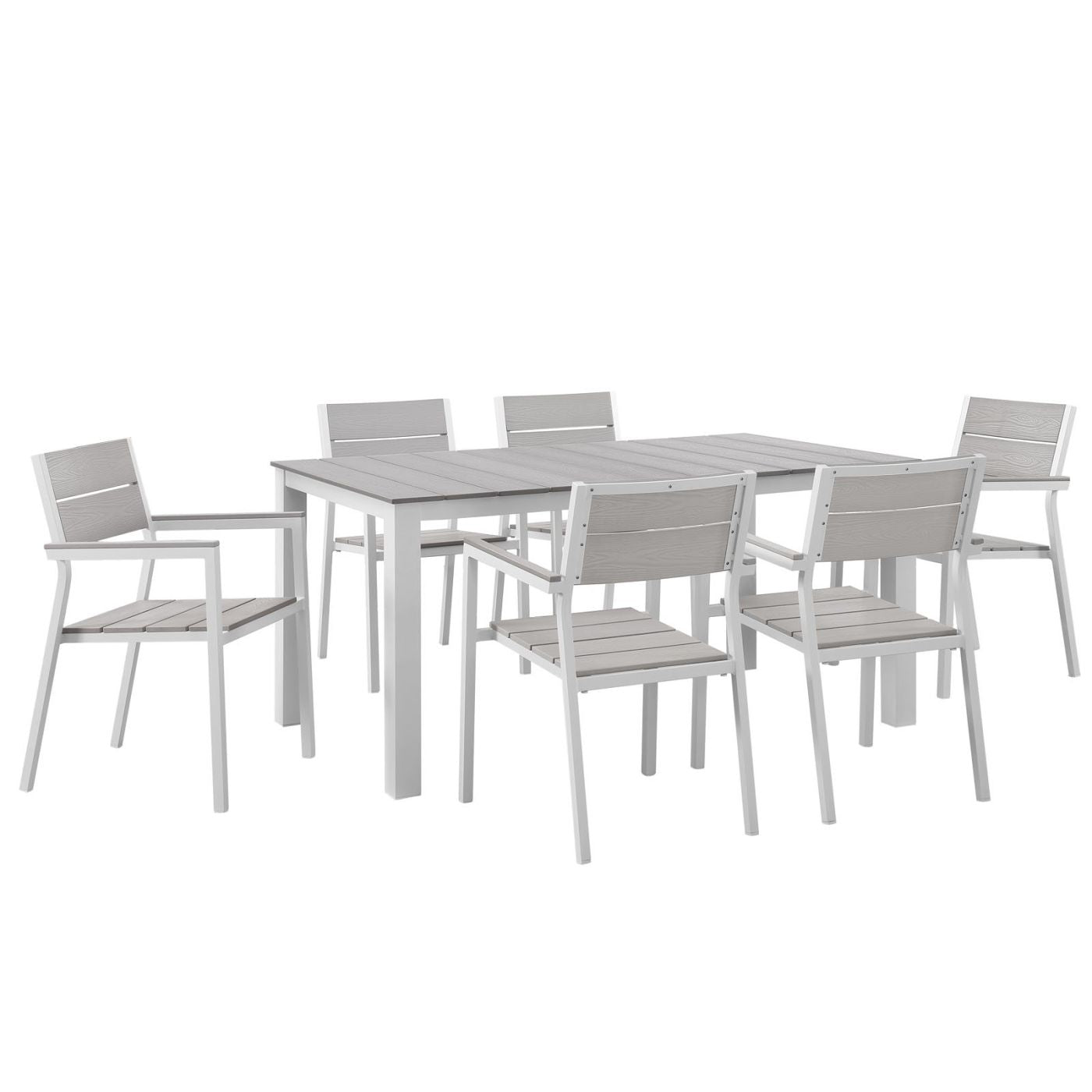 Modway Outdoor Dining Sets On Sale Eei 1749 Whi Lgr Set Maine