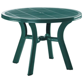 Truva Resin Round Dining Table 42 Inch Green Outdoor