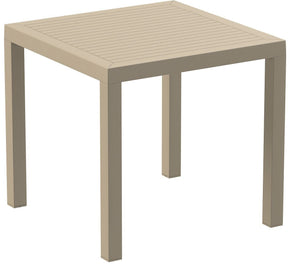 Ares Resin Square Dining Table Dove Gray 31 Inch Outdoor