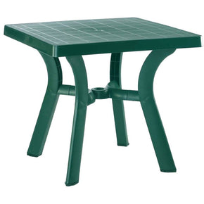 Viva Resin Square Dining Table 31 Inch Green Outdoor