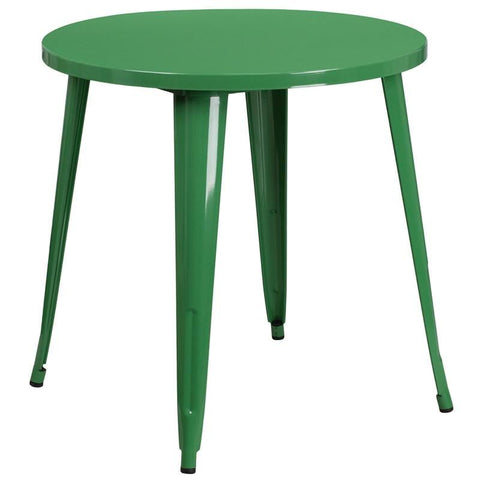 Bistro Tables - Flash Furniture CH-51090-29-GN-GG 30'' Round Metal Indoor-Outdoor Table (Multiple Colors) | 889142065074 | Only $114.80. Buy today at http://www.contemporaryfurniturewarehouse.com