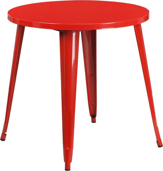 Bistro Tables - Flash Furniture CH-51090-29-RED-GG 30'' Round Metal Indoor-Outdoor Table (Multiple Colors) | 889142065098 | Only $114.80. Buy today at http://www.contemporaryfurniturewarehouse.com