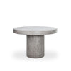 Outdoor Dining Tables - Moes Home Collection BQ-1002-25 Cassius FiberStone Round Concrete Dining Table 47"