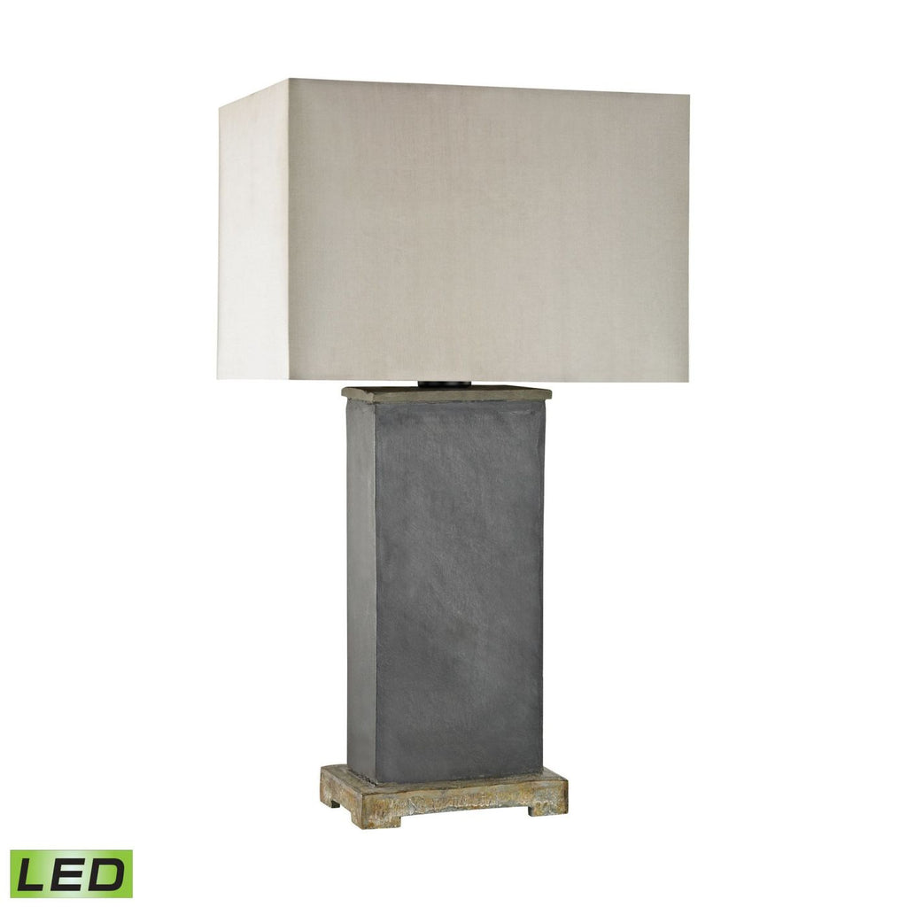 Elliot Bay Outdoor Led Table Lamp Grey Slate