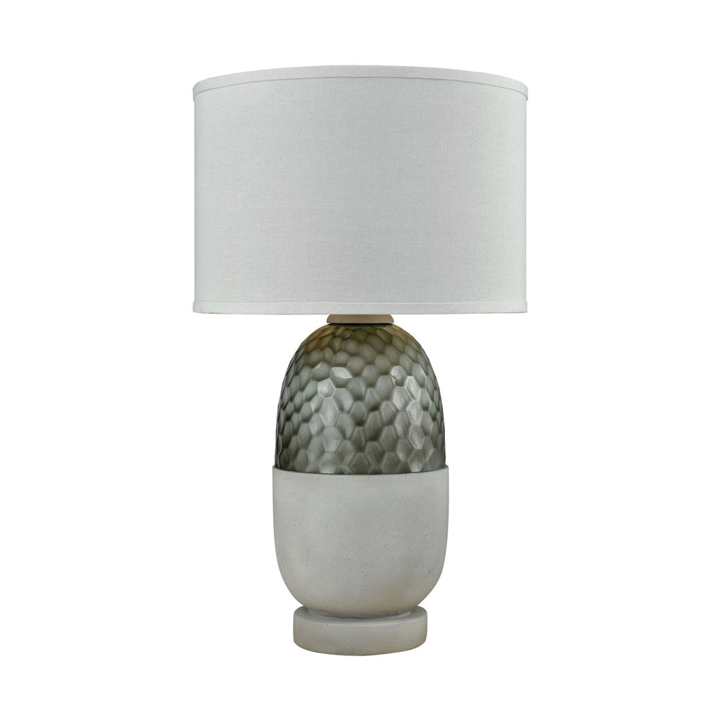 Reykjavik Outdoor Table Lamp Polished Concrete,grey