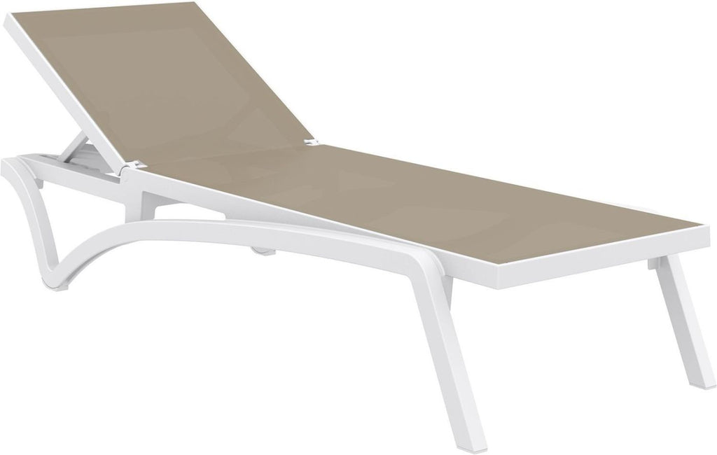 Buy Compamia Isp089 Whi Dvr Pacific Sling Chaise Lounge White Frame