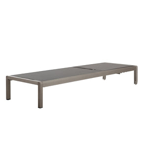 Outdoor Lounge Chairs - Meelano 200-GRY Outdoor Chaise Lounge In Grey | 035127435978 | Only $384.80. Buy today at http://www.contemporaryfurniturewarehouse.com
