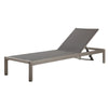 Outdoor Chaise Lounge In Grey Chair