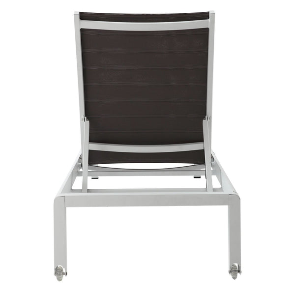 Outdoor Chaise Lounge In Grey And White Chair