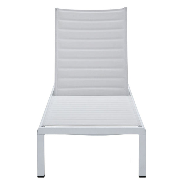 Meelano Outdoor Chaise Lounge In All White Ribbed 201-WHI-WHI | 035127435992| $409.80. Outdoor Lounge Chairs - . Buy today at http://www.contemporaryfurniturewarehouse.com