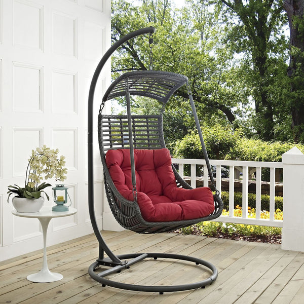 Jungle Outdoor Patio Swing Chair With Stand Lounge
