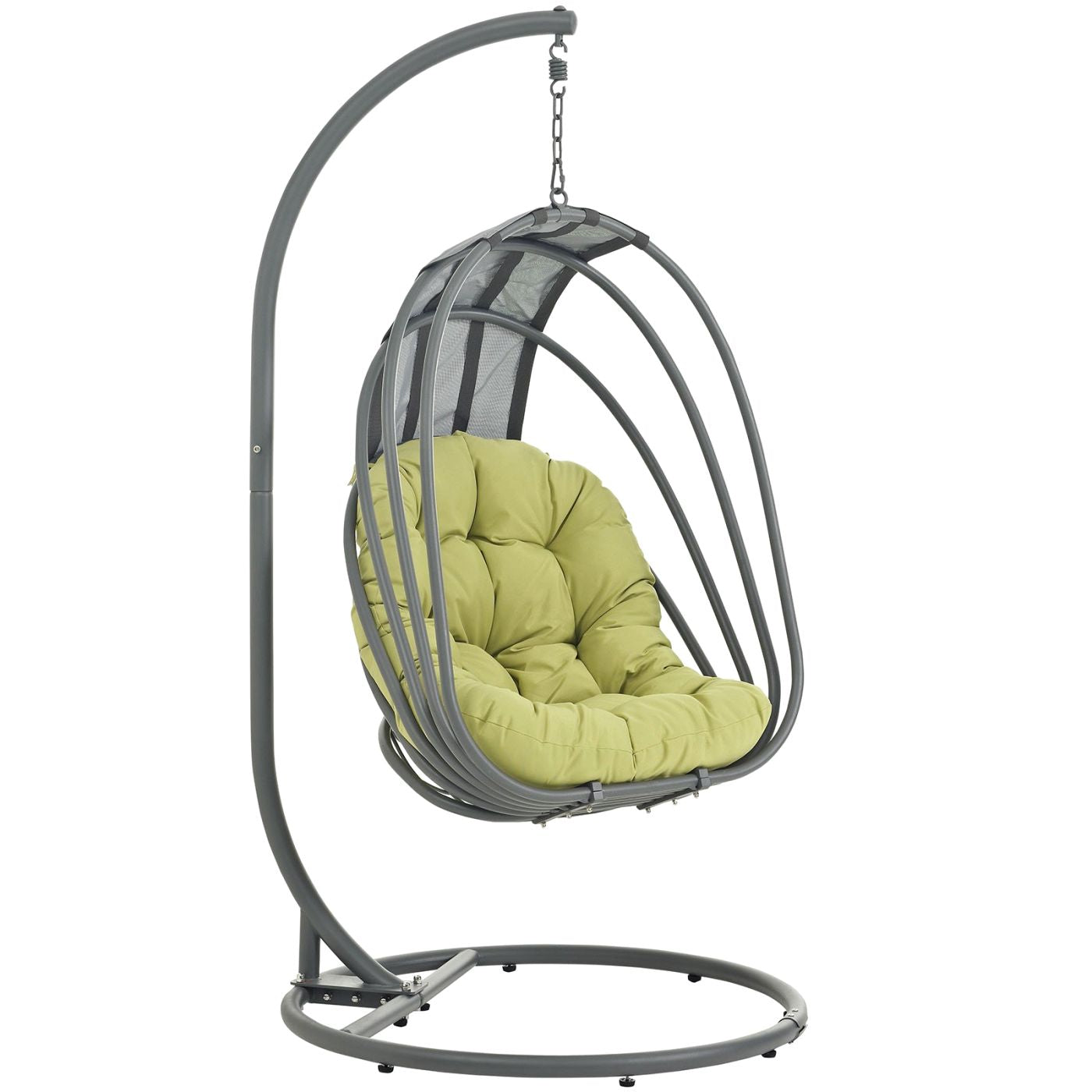 Whisk Outdoor Patio Swing Chair With Stand Peridot Lounge ...