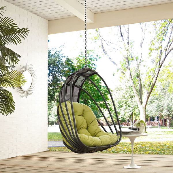 Whisk Outdoor Patio Swing Chair Without Stand Lounge - Modway Whisk Outdoor Hanging Patio Swing Chair Without Stand At