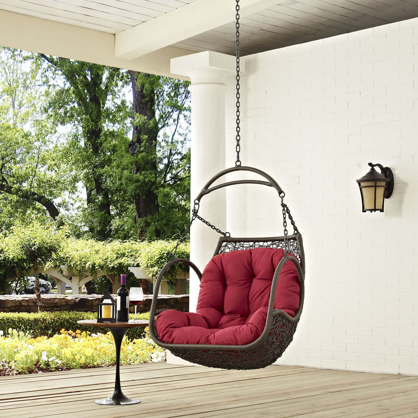 Modway Arbor Outdoor Patio Swing Chair Without Stand EEI 2659 WHI