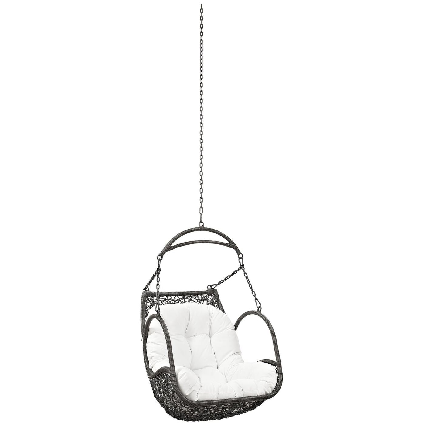 Arbor Outdoor Patio Swing Chair Without Stand White Lounge ...