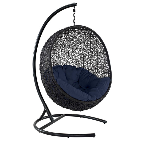 Encase Swing Outdoor Patio Lounge Chair Navy