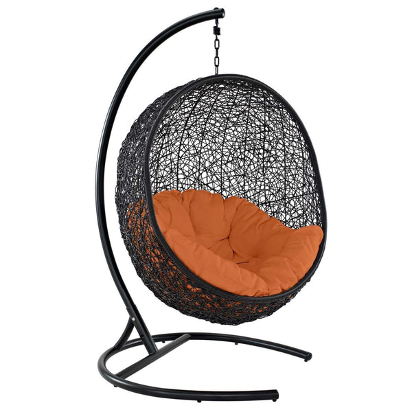 Encase Swing Outdoor Patio Lounge Chair Orange