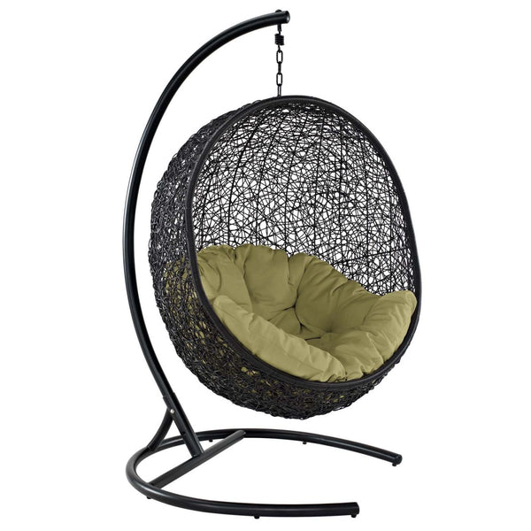 Encase Swing Outdoor Patio Lounge Chair Peridot