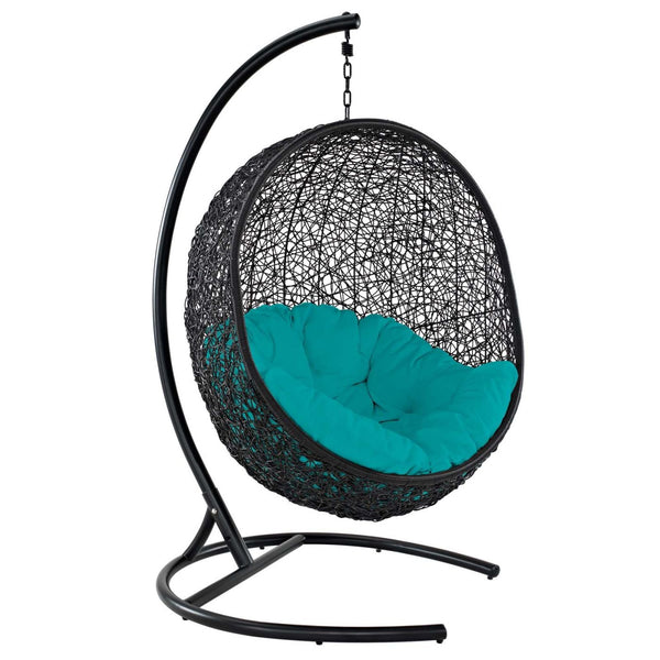 Encase Swing Outdoor Patio Lounge Chair Turquoise