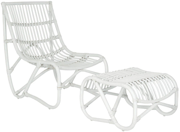 Shenandoah Chair & Ottoman White Outdoor Lounge