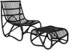 Shenandoah Chair & Ottoman Black
