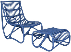 Shenandoah Chair & Ottoman Blue Outdoor Lounge