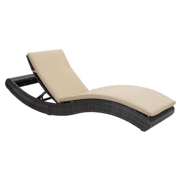Zuo Modern Pamelon Beach Chaise Lounge Brn U0026 Beige At Contemporary Furniture  Warehouse