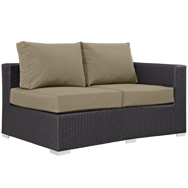 loveseats modway arm rattan mocha products convene exp loveseat patio grande espresso outdoor moc by eei right