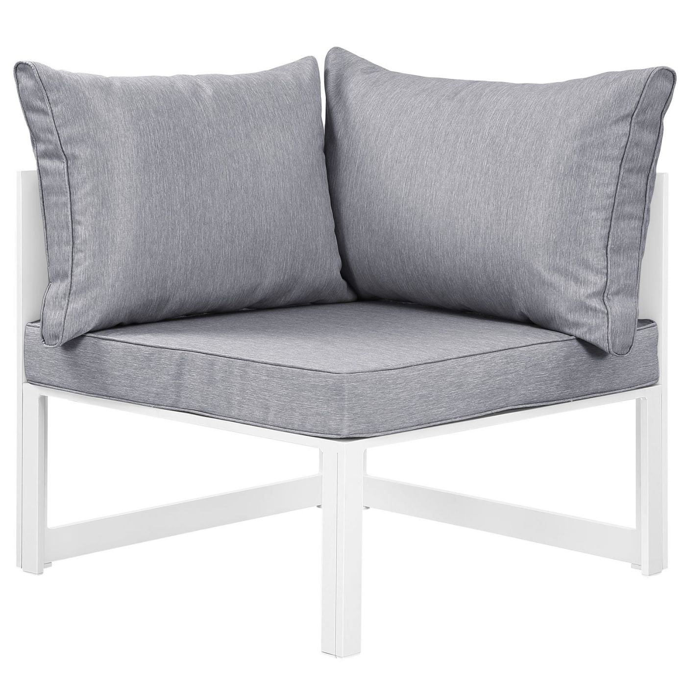 Pleasing Modway Outdoor Modular Sofas On Sale Eei 1518 Whi Gry Fortuna Corner Outdoor Patio Armchair Only Only 271 05 At Contemporary Furniture Warehouse Gmtry Best Dining Table And Chair Ideas Images Gmtryco