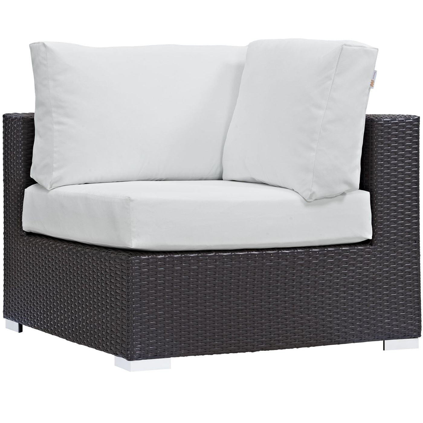 Modway Convene Rattan Outdoor Patio Corner Chair at ...