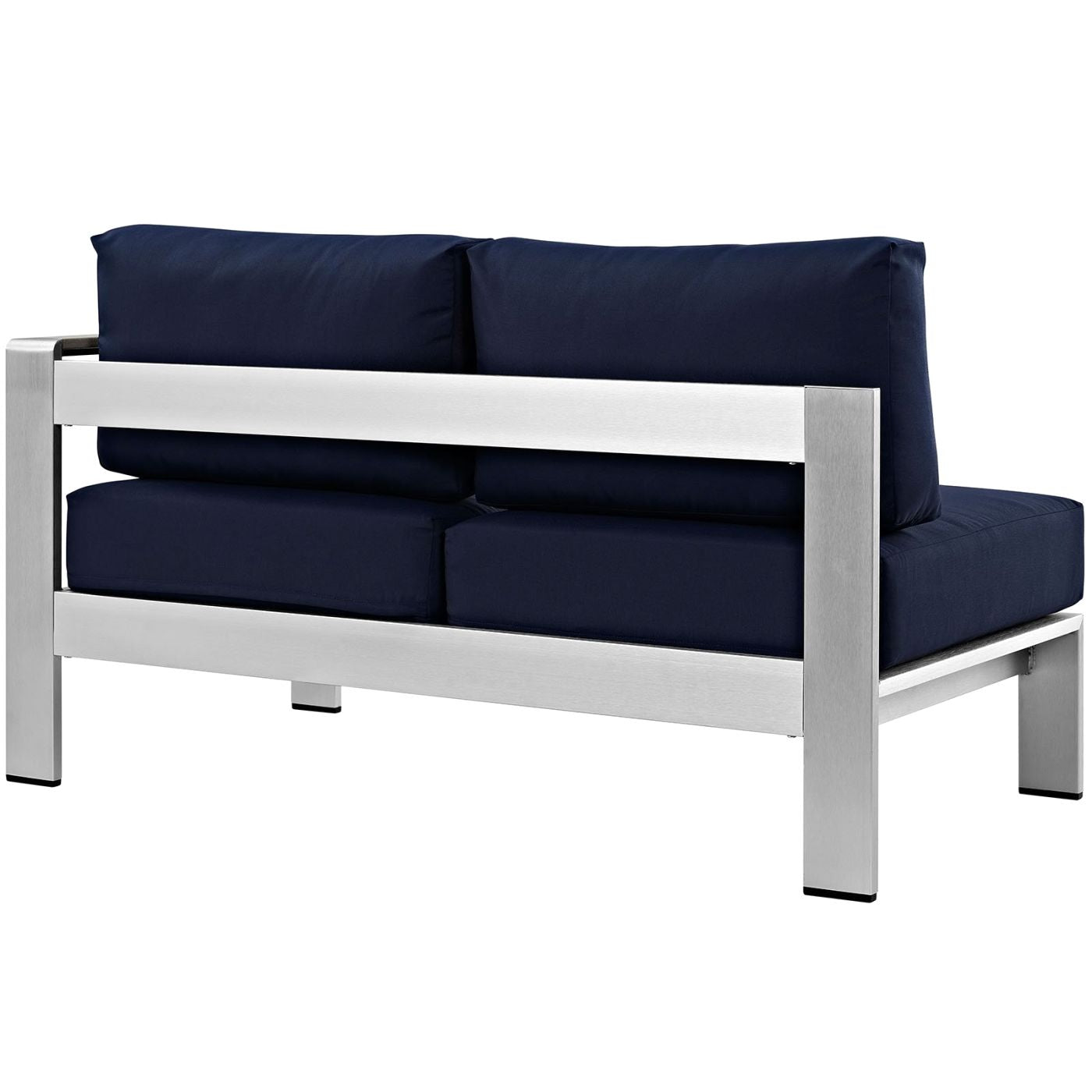 Modway shore right arm corner sectional outdoor patio for Sofa with only one arm