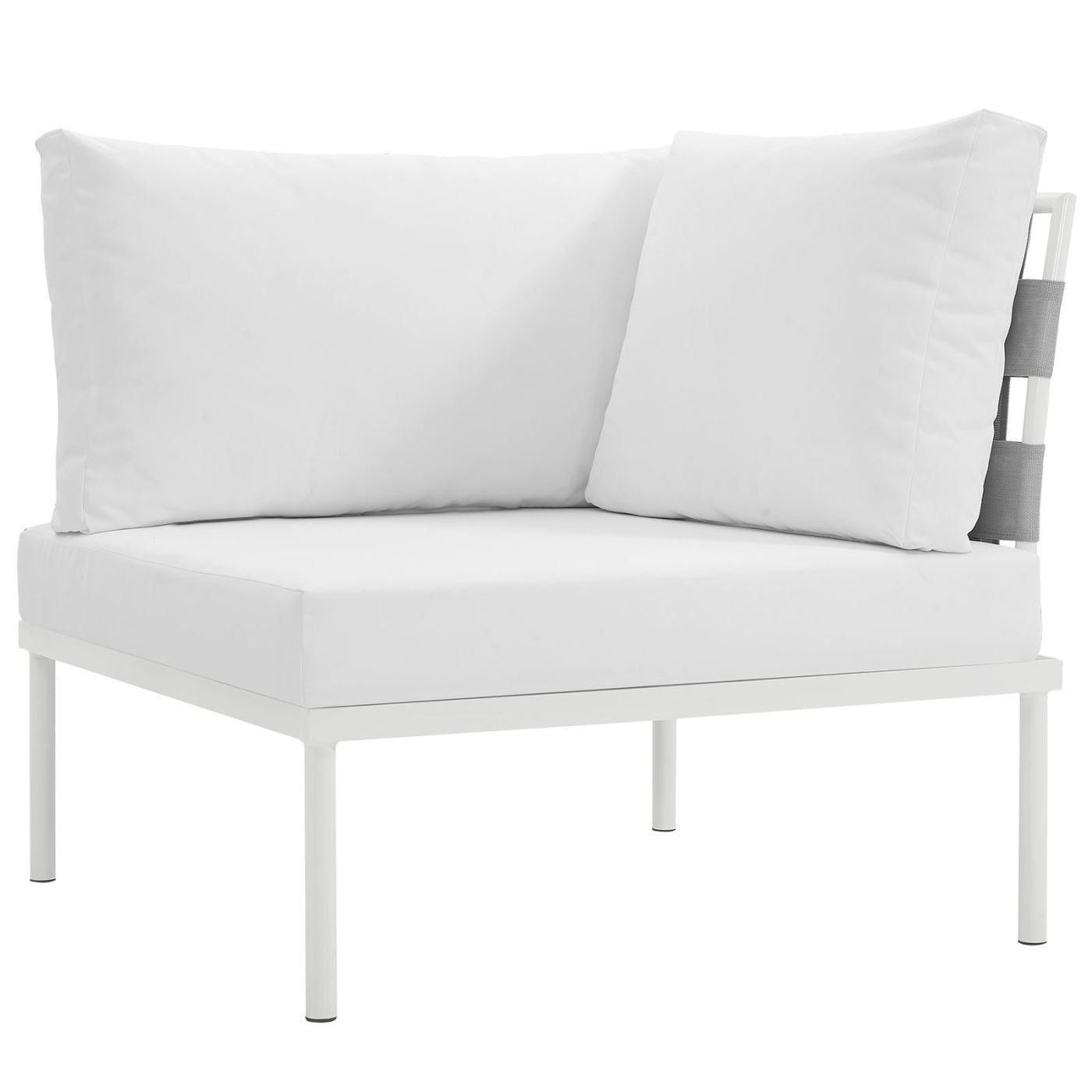 Harmony Outdoor Patio Aluminum Corner Sofa White Modular ...