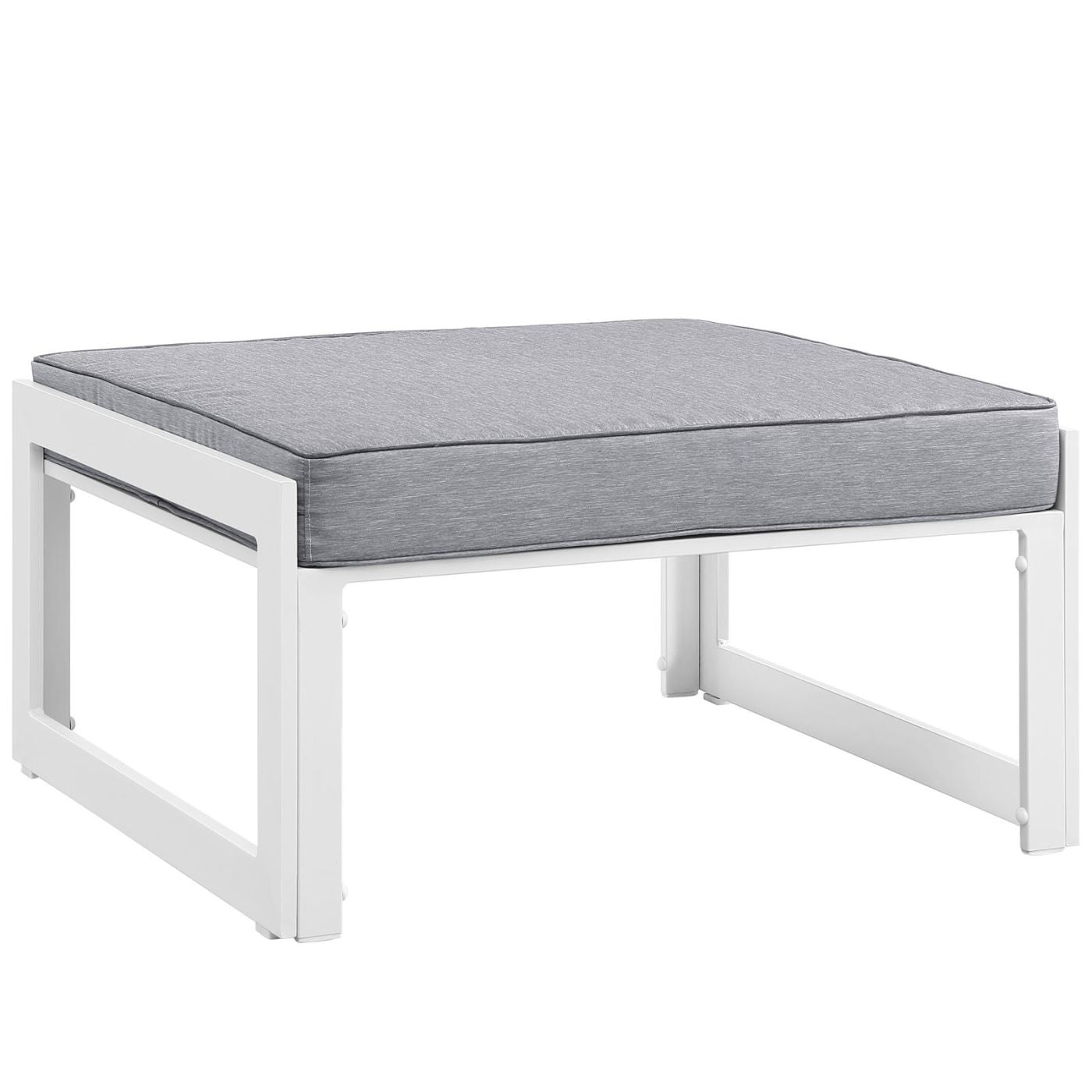 Modway Fortuna Outdoor Patio Ottoman EEI 1521 WHI GRY ly