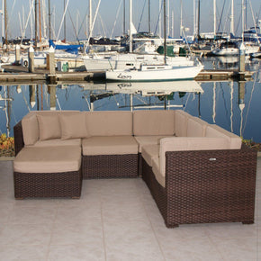 Bellagio Sectional 6-Pc Set Deluxe Outdoor Patio