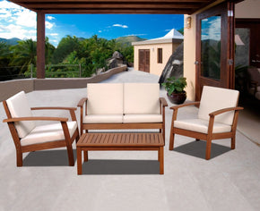 Murano 4 Pc Conversation Set Outdoor Patio