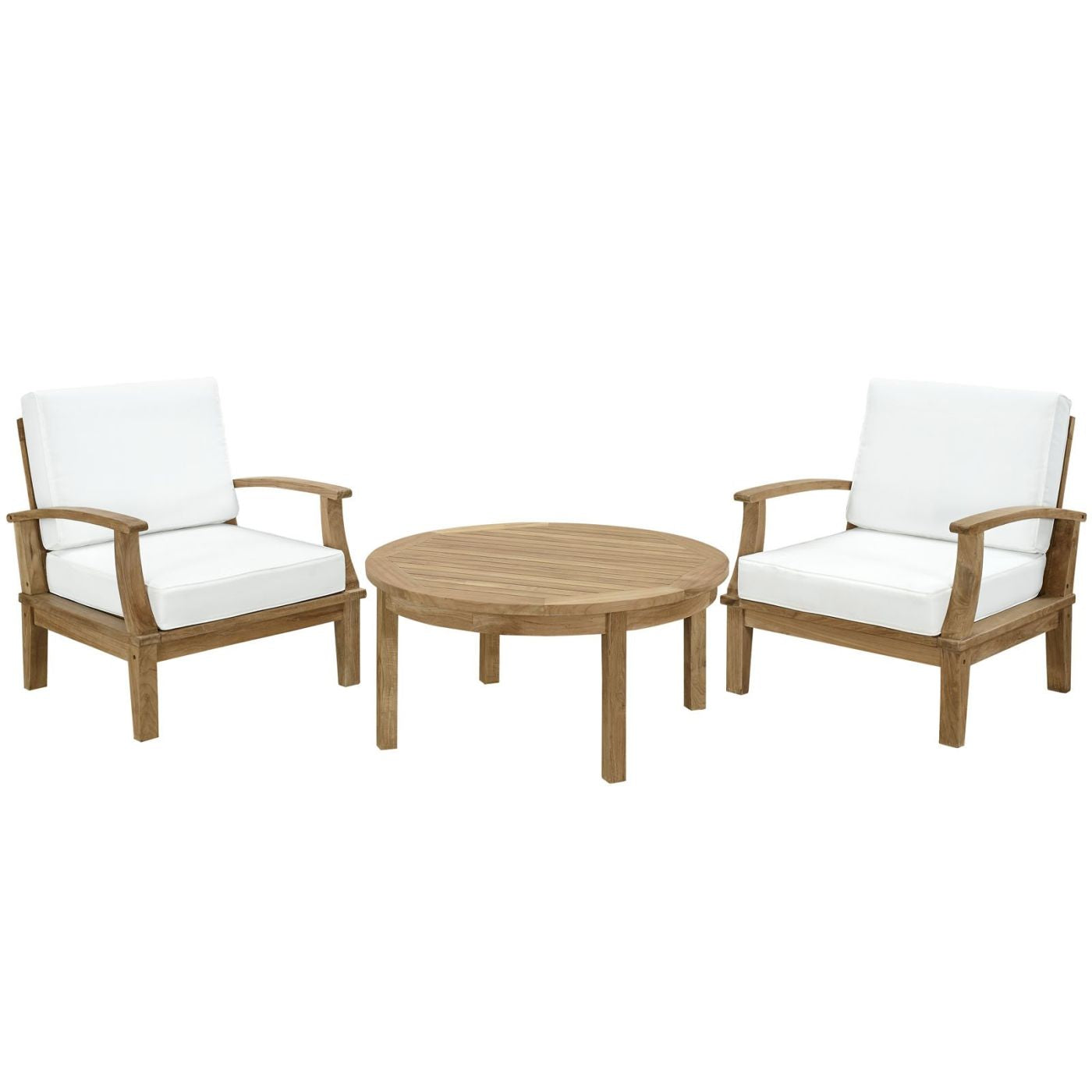 Pleasing Modway Outdoor Patio Sets On Sale Eei 1475 Nat Whi Set Marina 3 Piece Outdoor Patio Teak Sofa Set Only Only 1 096 80 At Contemporary Furniture Download Free Architecture Designs Sospemadebymaigaardcom