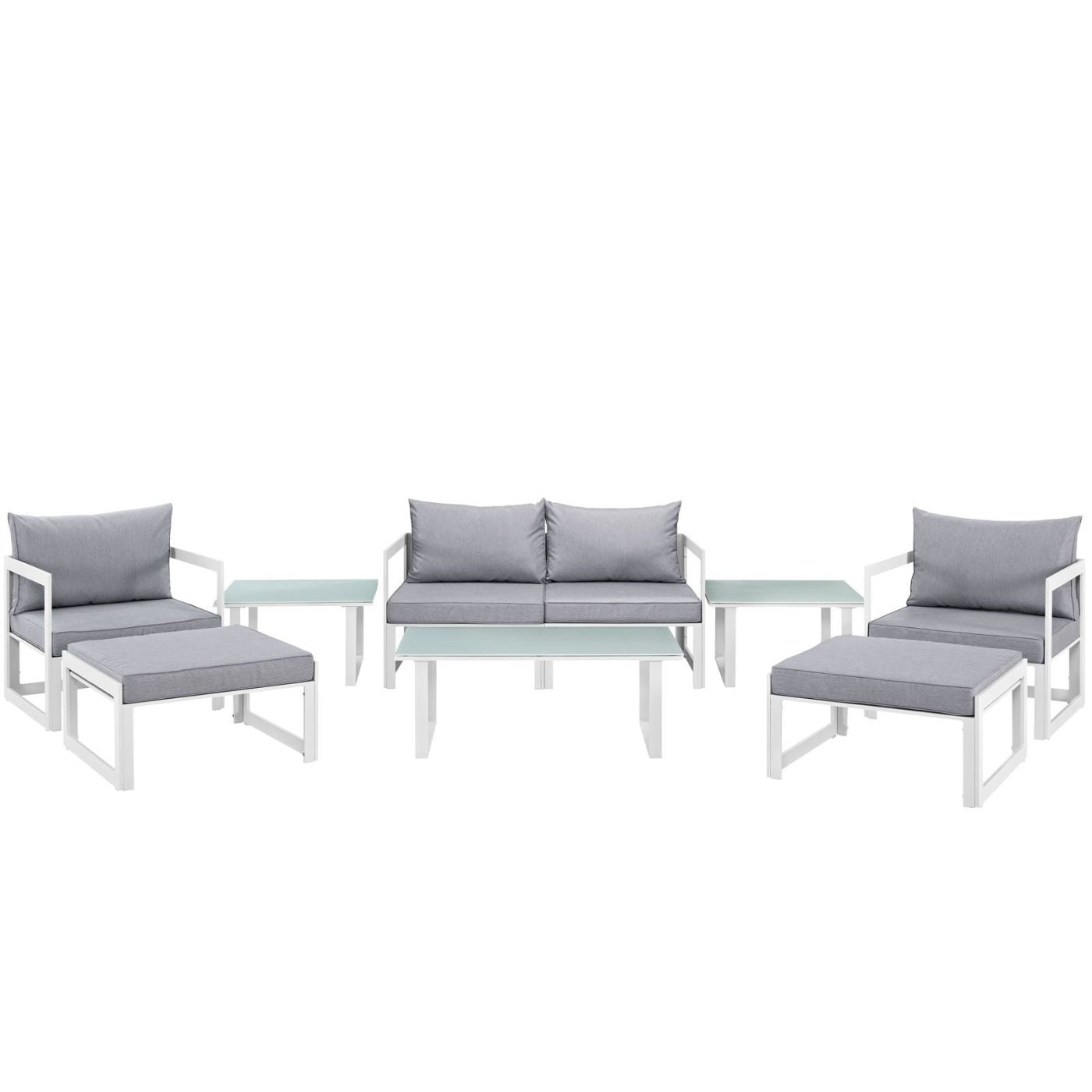 Astounding Modway Outdoor Patio Sets On Sale Eei 1719 Whi Gry Set Fortuna 9 Piece Outdoor Patio Sectional Sofa Set Only Only 1 754 80 At Contemporary Furniture Short Links Chair Design For Home Short Linksinfo
