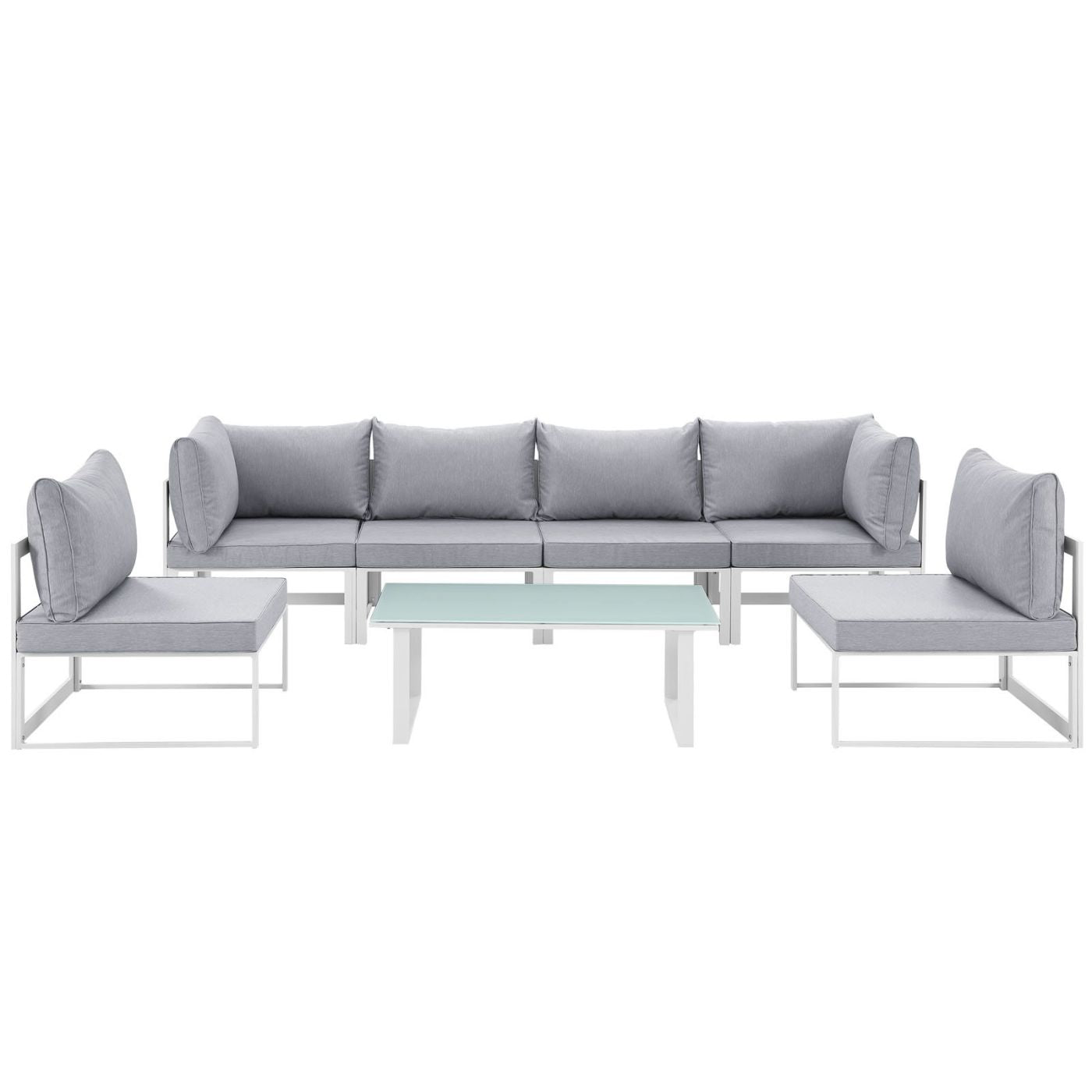 Modway Outdoor Patio Sets on sale. EEI-1729-WHI-GRY-SET ...
