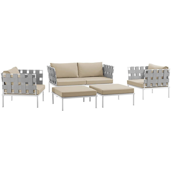 Modway Outdoor Patio Sets on sale. EEI-2621-WHI-WHI-SET Harmony 5 Piece  Outdoor Patio Aluminum Sectional Sofa Set only Only $1,564.25 at  Contemporary ...