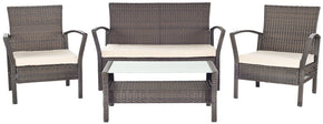 Avaron 4 Pc Outdoor Set Brown/ Beige Patio