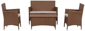 Figueroa 4 Pc Outdoor Set Toasted Almond / Sand Patio