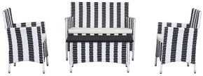 Figueroa 4 Pc Outdoor Set Black / White Patio