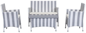 Figueroa 4 Pc Outdoor Set Grey / White Patio