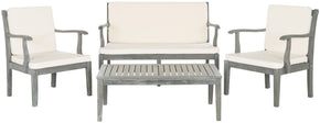 Montclair 4Pc Outdoor Living Set Ash Grey/beige Patio