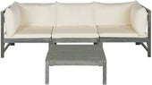Lynwood Modular Outdoor Sectional Ash Grey/beige Patio Set