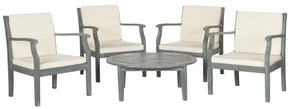 Anaheim 5 Pc Coffee Set Ash Grey/beige Outdoor Patio