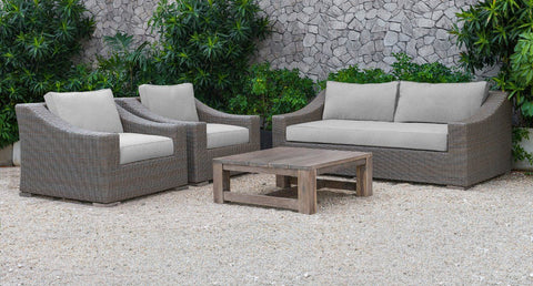 Renava Palisades Outdoor Beige Wicker Sofa Set Patio