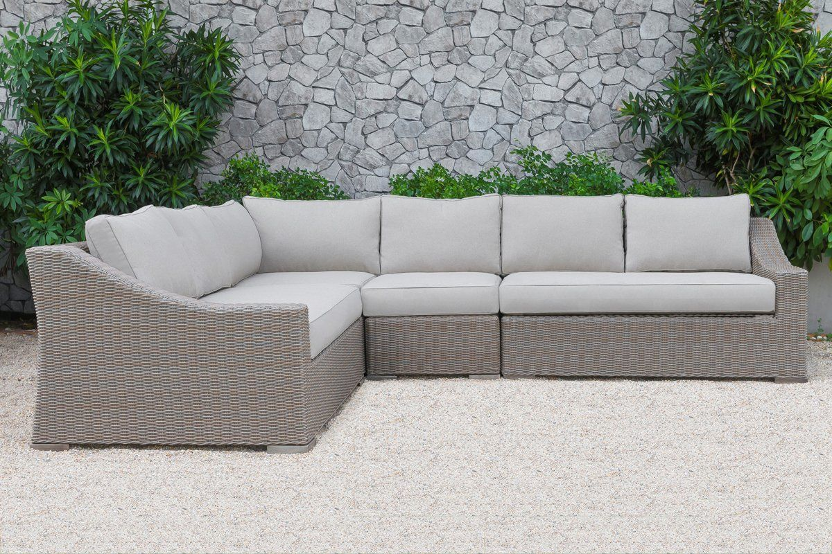 Vig Furniture VGATRASF-126-BGE Renava Pacifica Outdoor Beige Sectional Sofa  Set Poly Rattan Wicker sale at Contemporary Furniture Warehouse. Today ...